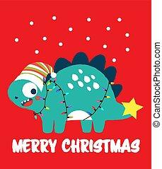 dinossauro, feliz natal