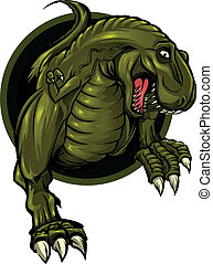 dinossauro, mascote