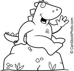 dinossauro, sentando