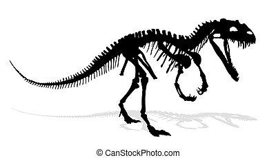 dinossauro, skeleton.