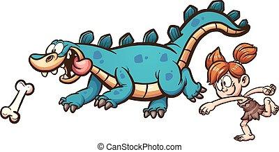 dinossauro, tocando