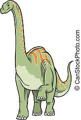 dinossauro, vetorial, ilustração
