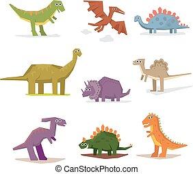 dinossauros, e, pré-histórico, período