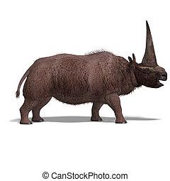 dinoszaurusz, elasmotherium., 3, vakolás, noha, nyiradék út,...