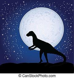 dinoszaurusz, hold
