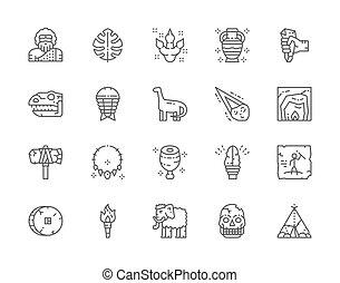 dinoszaurusz, primitív, egyenes, állhatatos, fejsze, ...