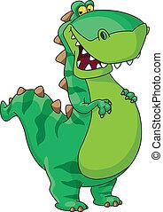 dinozaur, szczęśliwy