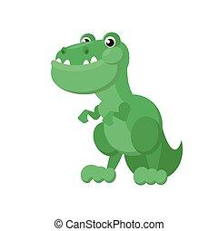 dinozaur, zielony, ikona
