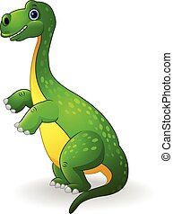 dinozaur, zielony, rysunek
