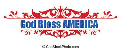 dio, -, benedire, 4 luglio, america
