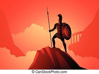 dio, guerra, ares, greco