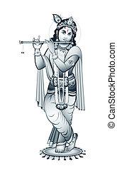 dio, indiano, krishna