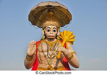 dio, mitologico, indiano, scimmia, hanuman