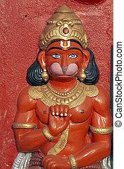 dio, scimmia, statua, indù