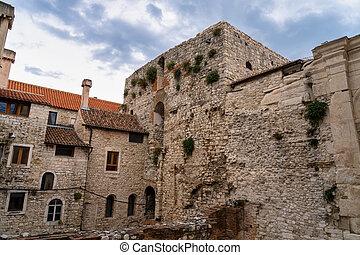 Diocletian palace ruins at Split in Croatia
