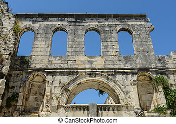 Diocletian palace ruins in Split Croatia