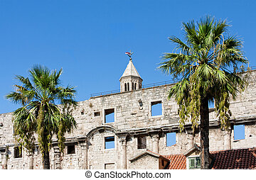 Diocletian palace ruins in Split