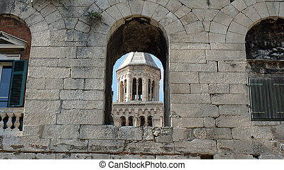 diocletians palace in the croatian town split
