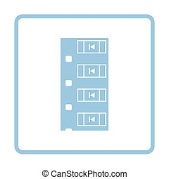 Diode smd component tape icon. Blue frame design. Vector...