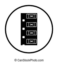 Diode smd component tape icon. Thin circle design. Vector...