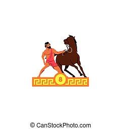diomedes, horses., hazaña, octavo, heracles.