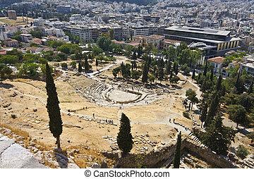 dionysus, acropole, théâtre, o