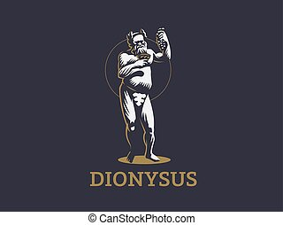Dionysus or Bacchus holds a bunch.