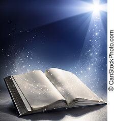 dios, biblia, abierto, viento