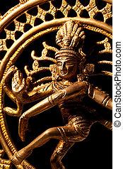dios, indio, shiva, estatua, hindú