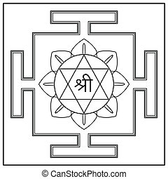 diosa, lakshmi., yantra