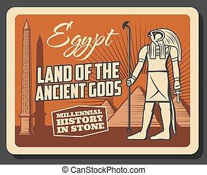 dioses, egipto, antiguo, museo, viaje, historia