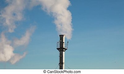 Dioxide Causing Global Warming - Pollution, smoke and steam...