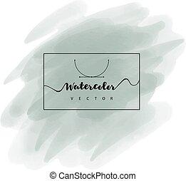 dipinto, acquarello, struttura, mano