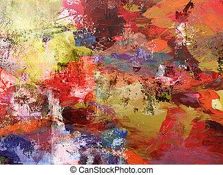 dipinto, astratto, fondo