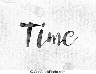 dipinto, concetto, tempo, inchiostro