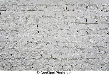 dipinto, mattone, parete bianca, 2