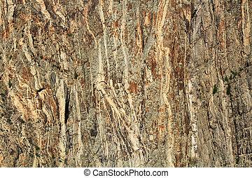 dipinto, parete roccia, canyon, nero, gunnison, pulpito