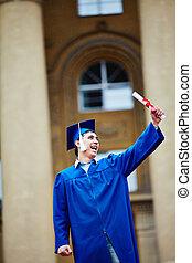 diplôme, étudiant