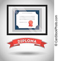 diplôme, certificat, conception