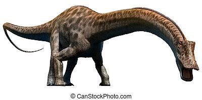 Aquarelle dinosaure pr historique diplodocus peinture - Dessin diplodocus ...