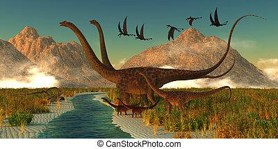 Diplodocus Dinosaur Afternoon