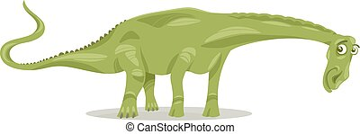 diplodocus dinosaur cartoon illustration