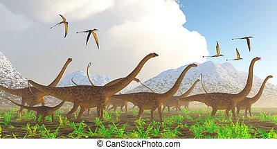 Diplodocus Dinosaur Migration