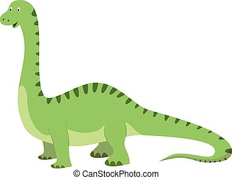Diplodocus vector illustration in cartoon style for kids. Dinosaurs Collection.