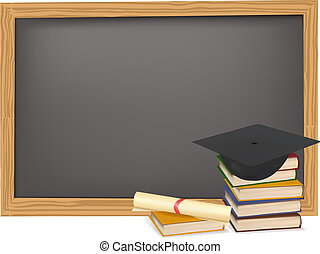 diplom, kappe, studienabschluss
