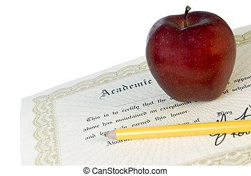 diploma, afgestudeerd