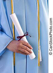 diploma, afstuderen