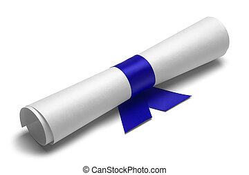 Diploma and Blue Ribbon