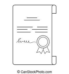 Diploma, certificate, achievement