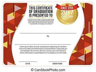 Diploma Certificate Blank Template